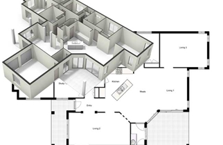 Black \u0026 White Floor plan